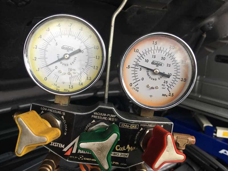 ルノーメガーヌ ガス圧