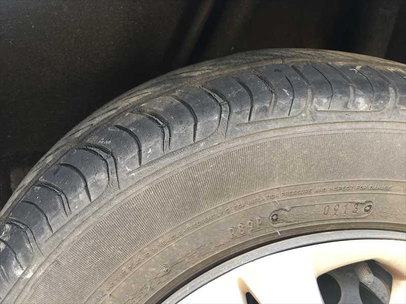 タイヤの変形